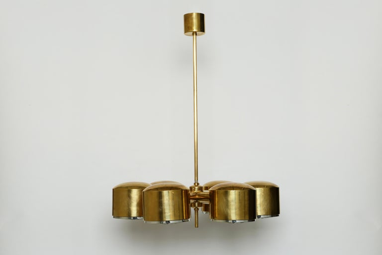 Hans-Agne Jakobsson six-light chandelier.