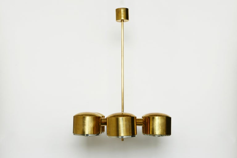 Scandinavian Modern Hans-Agne Jakobsson Brass Chandelier For Sale