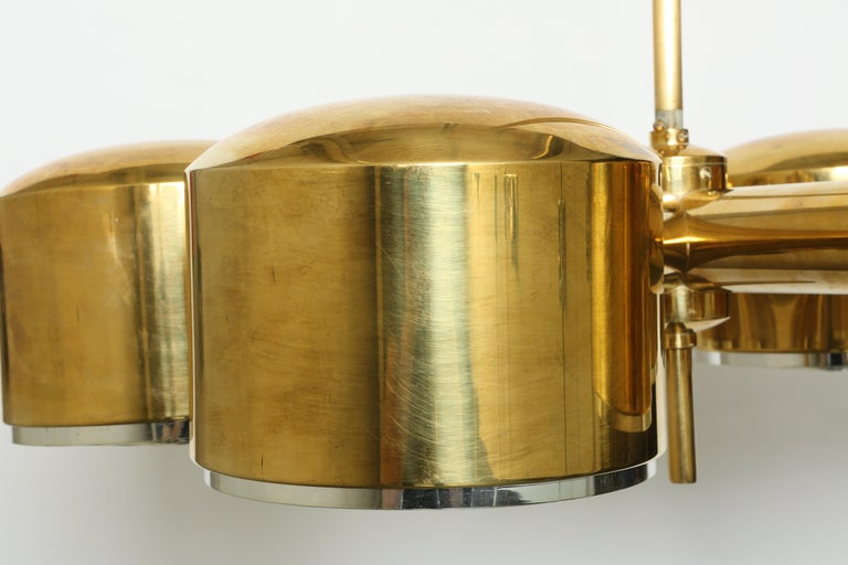 Hans-Agne Jakobsson Brass Chandelier For Sale 2