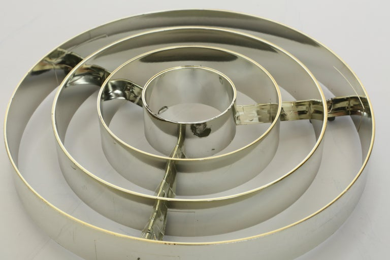Hans-Agne Jakobsson Brass Chandelier For Sale 10