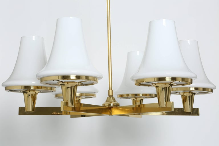Hans-Agne Jakobsson Chandelier In Good Condition For Sale In Brooklyn, NY