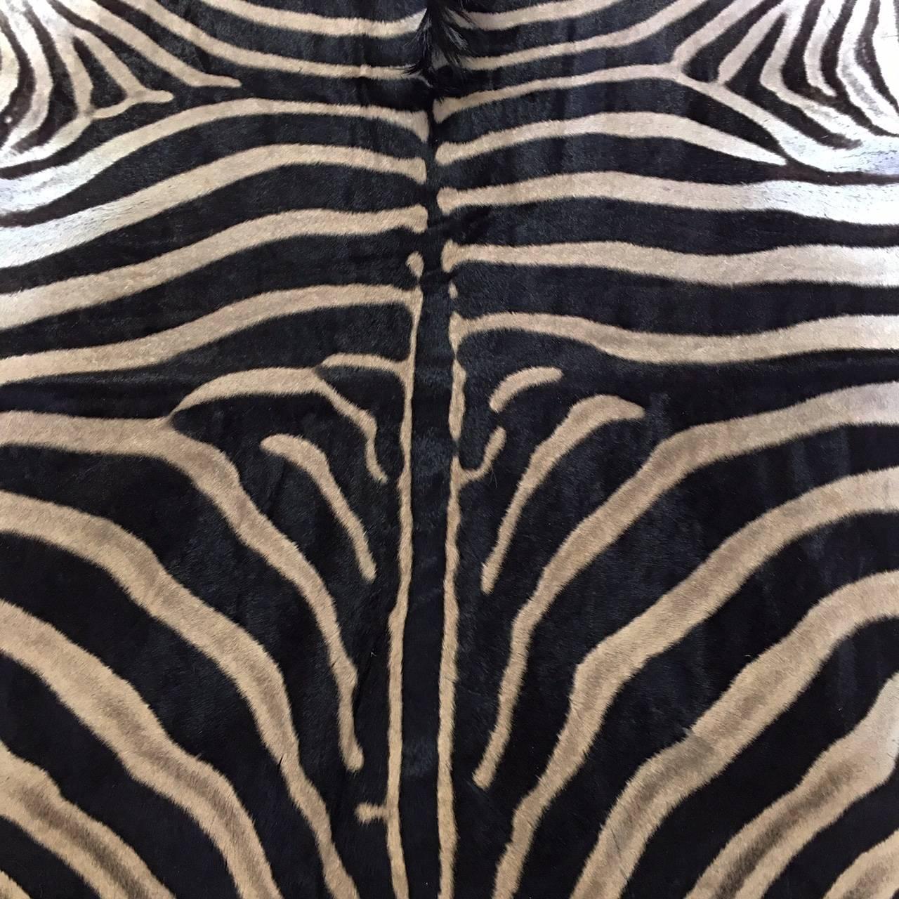 Zebra Hide Rug At 1stdibs