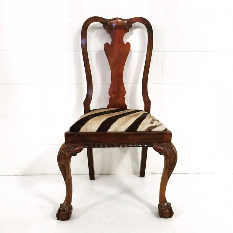 Queen anne style dining chairs set of four at 1stdibs - Queen anne dining room furniture ...