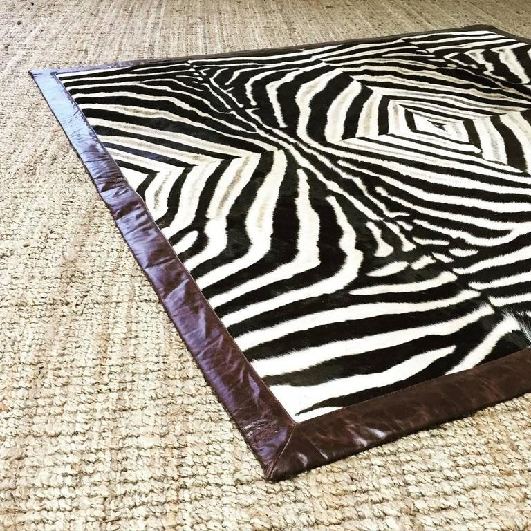 Zebra Sculpture Area Rug: One Of A Kind Zebra Hide Area Rug For Sale At 1stdibs