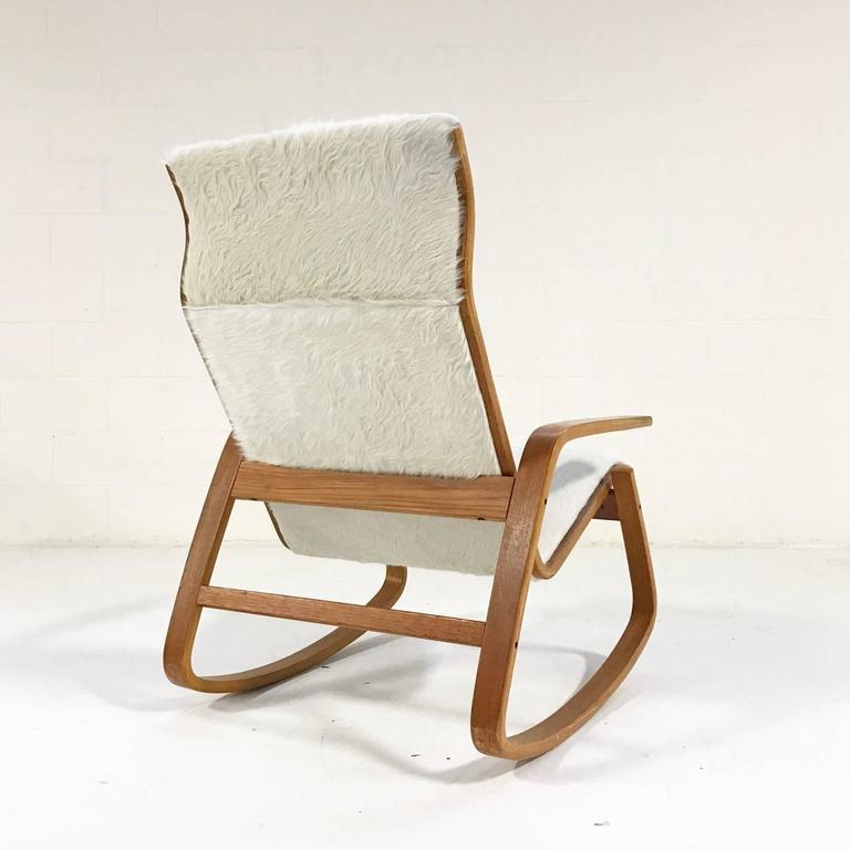 Ingmar Relling For Westnofa Of Norway Danish Modern Rocking Chair In Cowhide  3