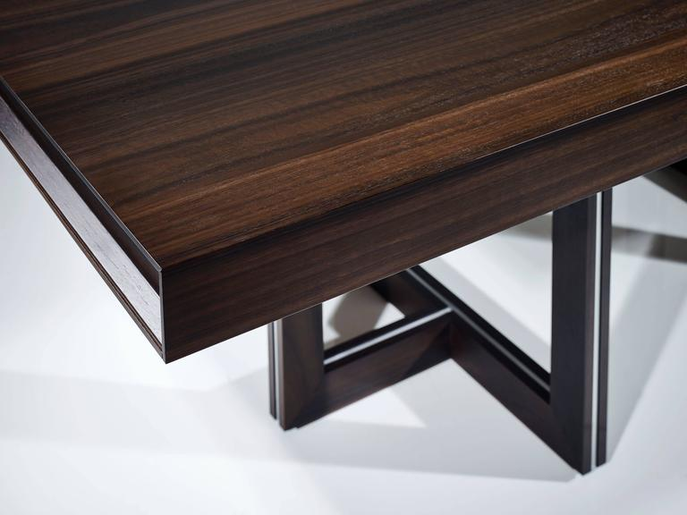 Superieur British Helix Dining Table Fumed Eucalyptus For Sale