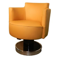 Decoene Freres, Art Deco Pivoting Armchair circa 1930