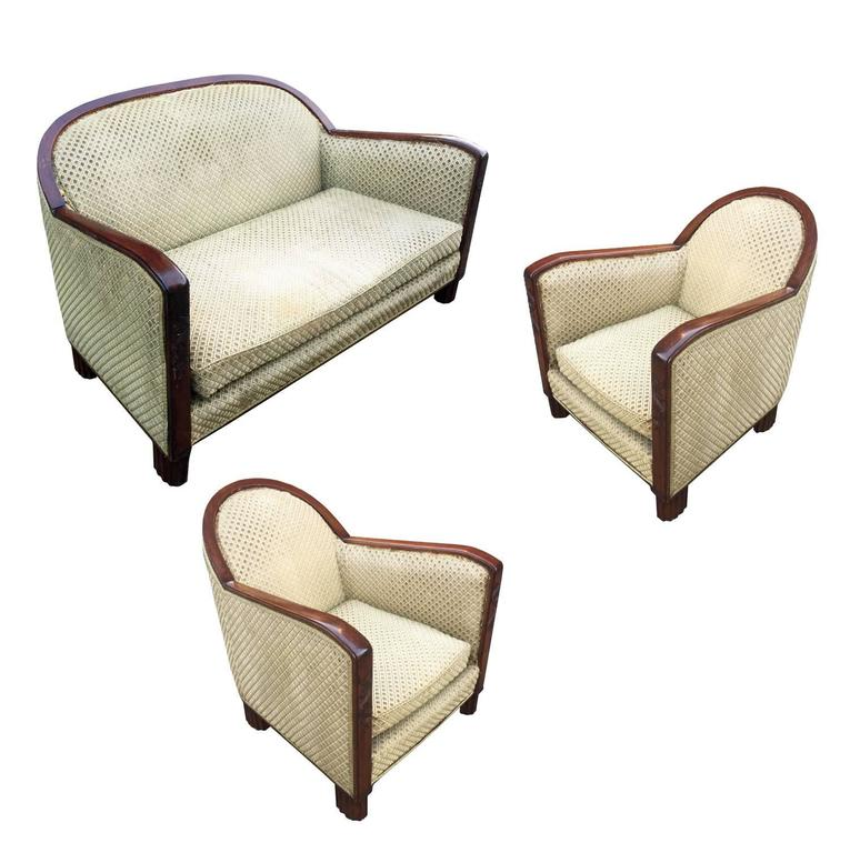 Art Deco Beech Living Room Set