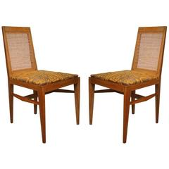 Pair of Rare and Elegant 1940 Chairs by André Preston