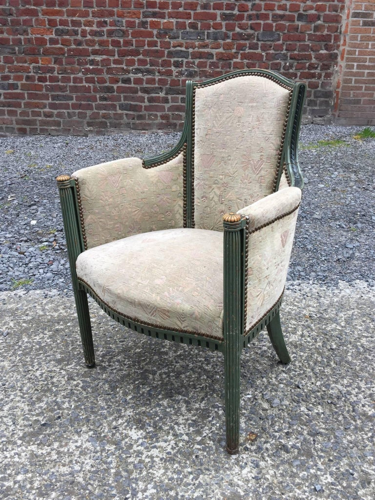 Early 20th Century two Art Deco Armchairs, circa 1925-1930 For Sale