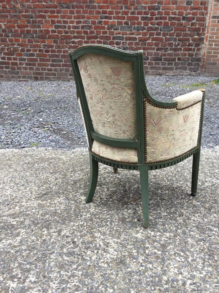 Beech two Art Deco Armchairs, circa 1925-1930 For Sale