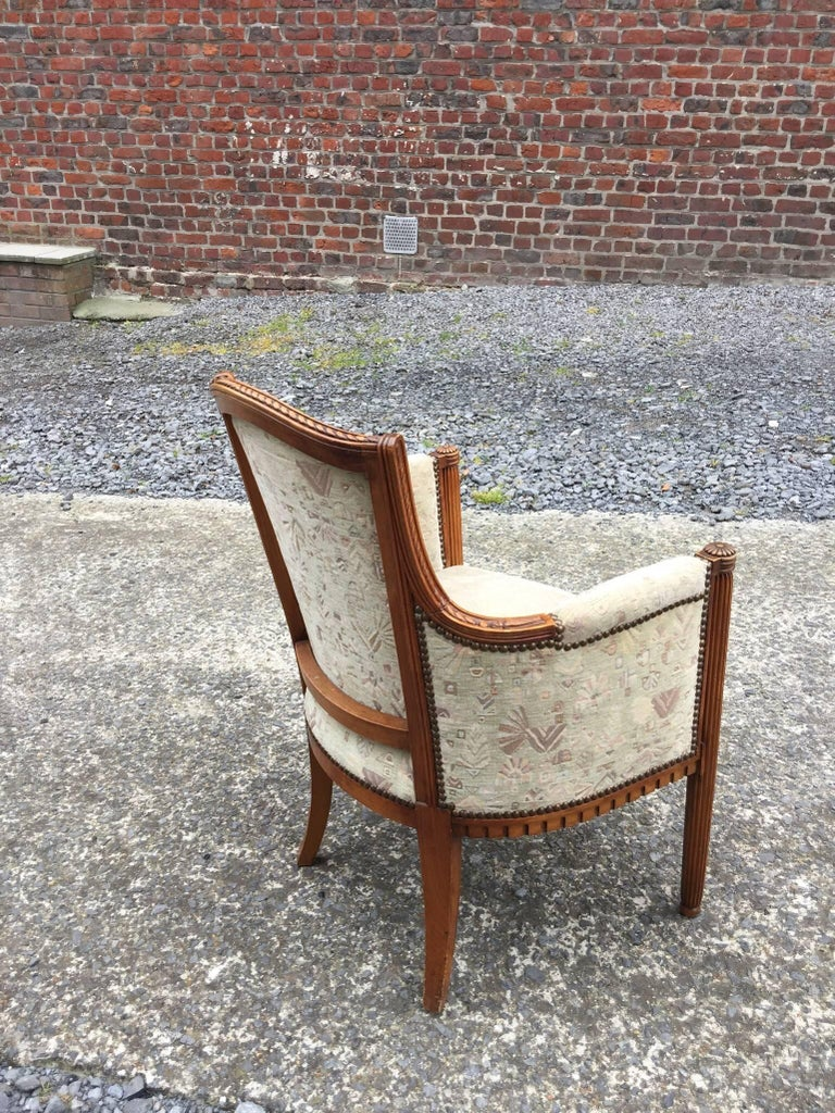 two Art Deco Armchairs, circa 1925-1930 For Sale 4