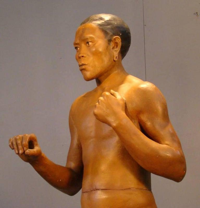 Ancient polychrome plaster Museum Statue circa 1900/1930.  Origin Musee Civilisation  167 height