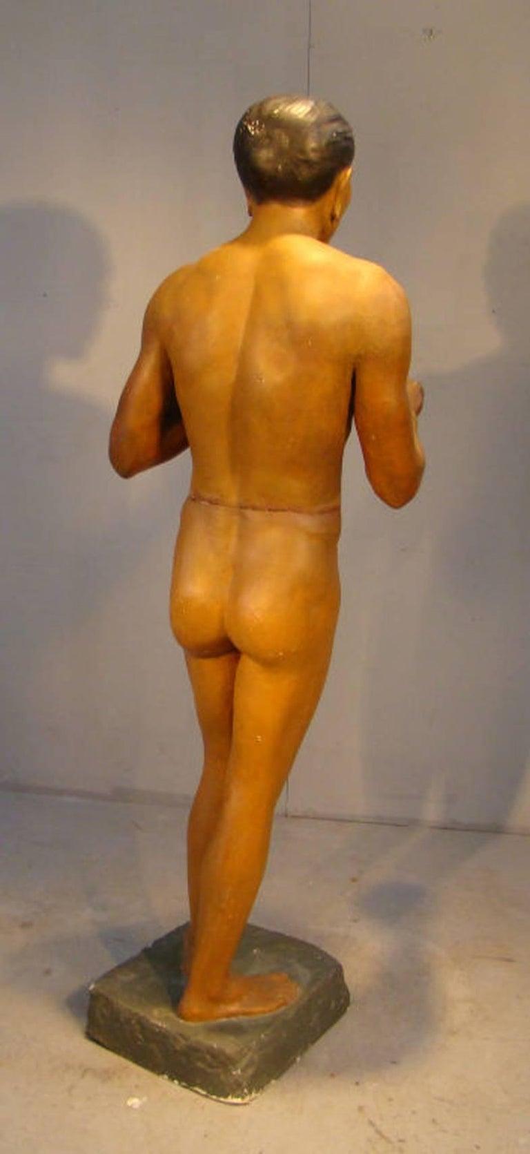 European Ancient Plaster Statue, Origin Musee Civilisation, circa 1900-1930 For Sale