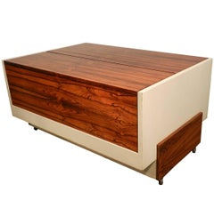 1970 Bar in Lacquered Wood and Palisander