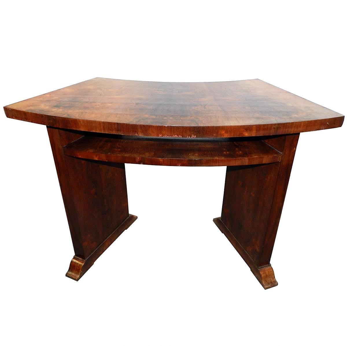 Art Deco Table Desk in Palisander, circa 1930