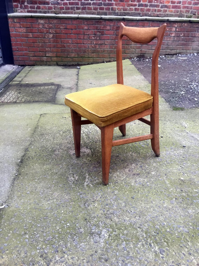 Guillerme et Chambron set of 12 oak dining chairs, circa 1965  Edition Votre maison Need a new upholstery.