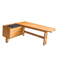 Guillerme et Chambron, Large Oak Desk, Edition Votre Maison, circa 1950