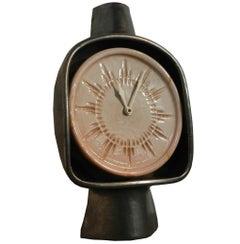 Boleslaw Danikowski ,Two-Tone Ceramic Clock, circa 1960