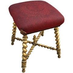 Giltwood Seat, 19th Century