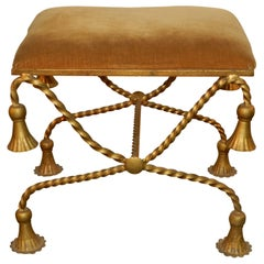 Maison Baguès 'in the Style of' Lacquered Iron Stool, circa 1960