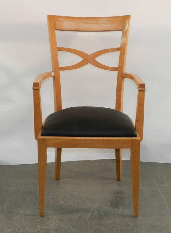Set of Two Armchairs and Eight Chairs in Art Deco Neoclassical Style 3