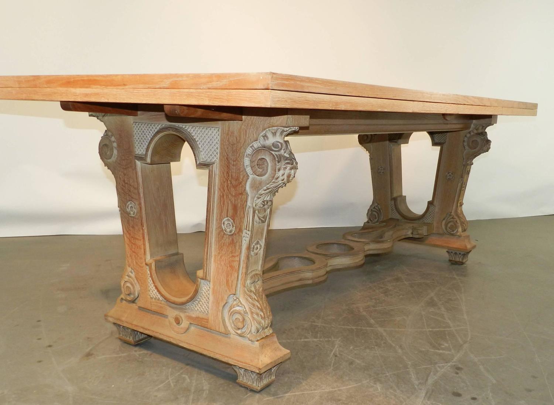 1940 art deco whiten oak dining room table for sale at for Dining room art for sale