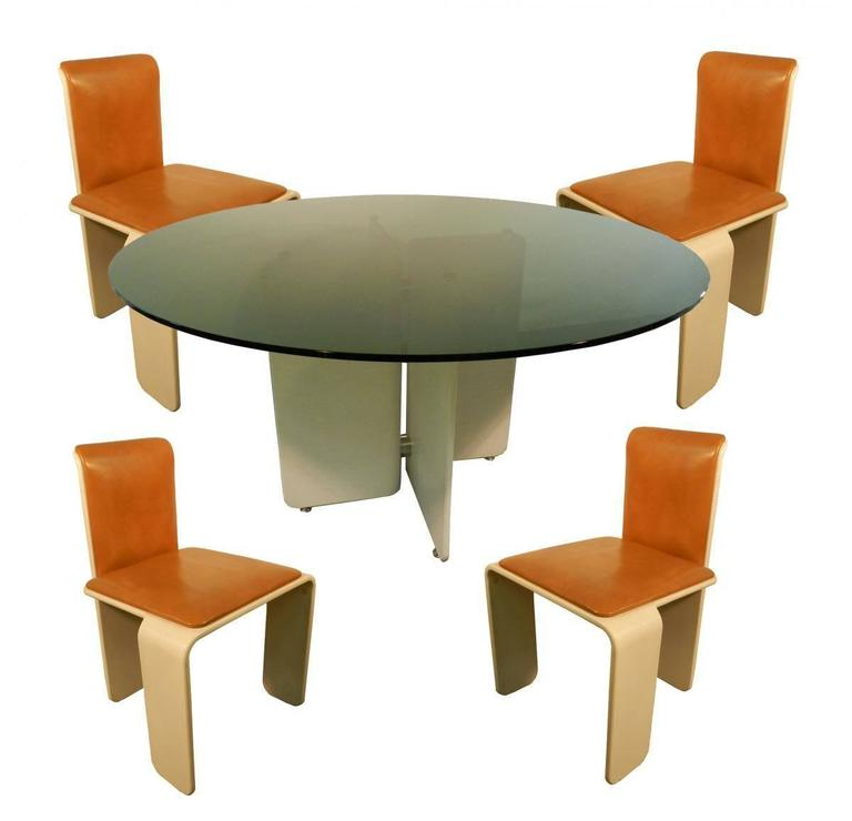 Set Of Therrmed Wood Dining Room Circa 1960 Prototype For