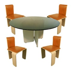 Set of Thermoformed Wood Dining Room, circa 1960, Prototype