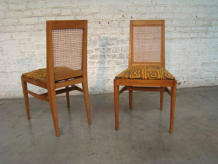 French Pair of Rare and Elegant 1940 Chairs by André Preston For Sale