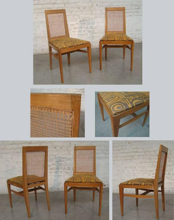 Pair of Rare and Elegant 1940 Chairs by André Preston In Excellent Condition For Sale In Saint-Ouen, FR