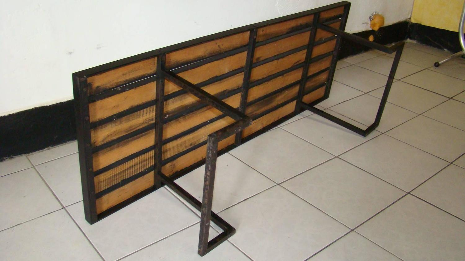 Marvelous photograph of 1950 Metal and Lacquered Wood Coffee Table For Sale at 1stdibs with #6D4725 color and 1500x844 pixels