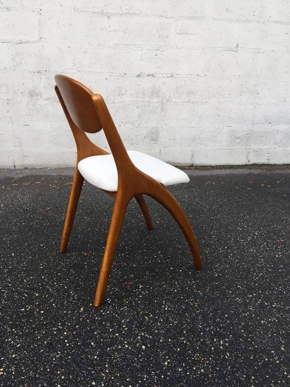 Walnut Little Desk with His Chair For Sale
