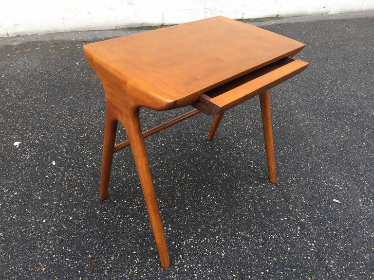 Mid-Century Modern Little Desk with His Chair For Sale