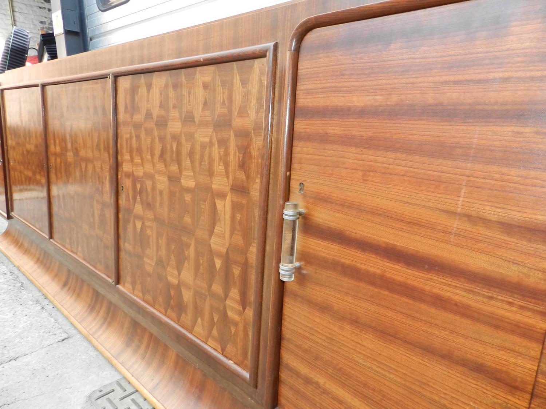 Very Large Art Deco Sideboard in Exotic Wood Veneer For ...