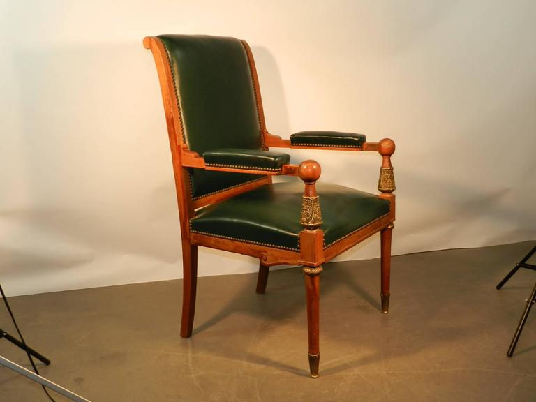 Large Neoclassical Desk Armchair, circa 1950 For Sale at ...