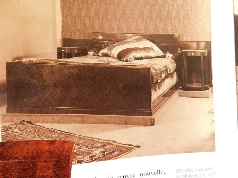 Jules leleu large mahogany bed circa 1930 for sale at - 1930 s mahogany bedroom furniture ...
