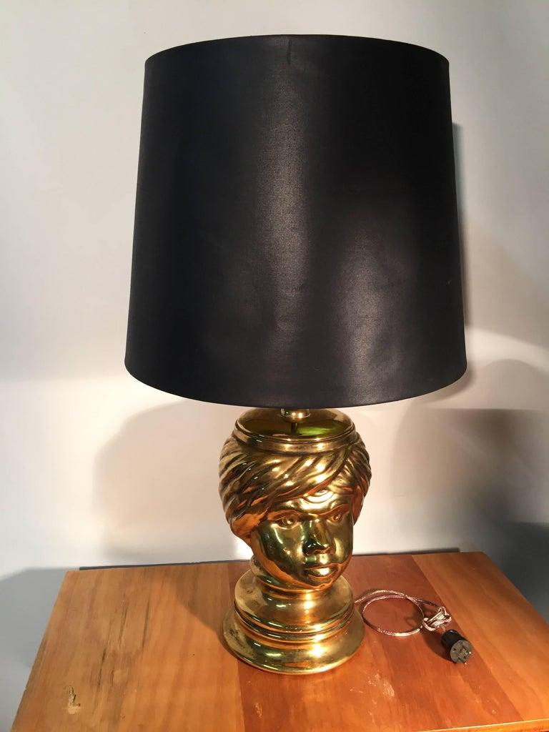 Piero Fornasetti, pair of table lamp in céramic.