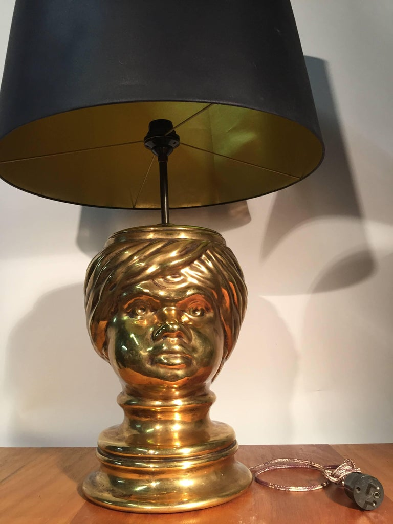 Piero Fornasetti, Pair of Table Lamp in Céramic In Excellent Condition For Sale In Saint-Ouen, FR
