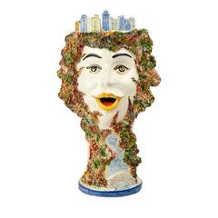 Central Park Caltagirone Ceramic Vase by Alessandro Iudici