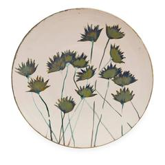 Thistle Ceramic Plate by Paola Staccioli