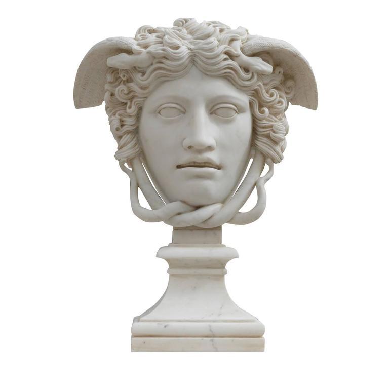 Medusa Rondanini Versace Marble Sculpture By Cusenza Marmi