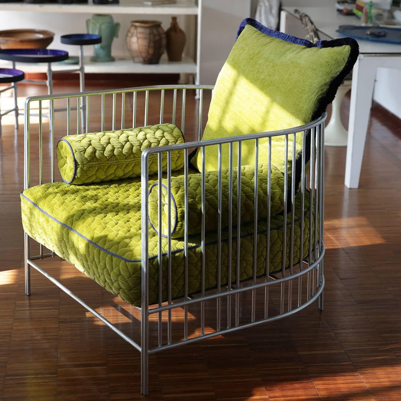 Peacock armchair by italian designer gian paolo venier for for Loft via savona 97