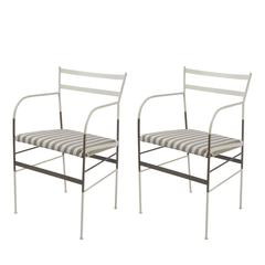 Set of Two Paul Zebra Chairs
