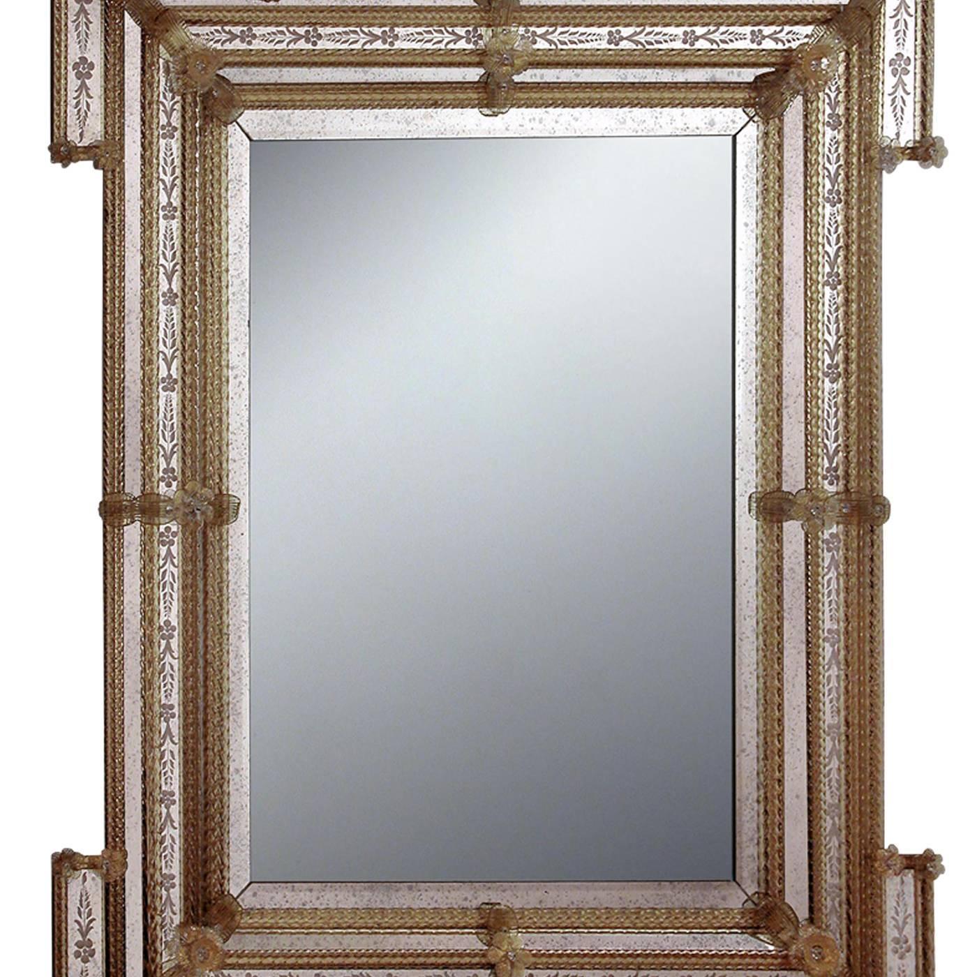 Rob murano glass mirror for sale at 1stdibs for Loft via savona 97