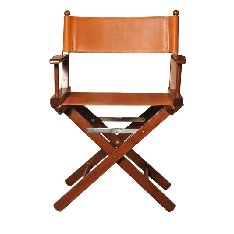 Cognac Leather Director S Chair For Sale At 1stdibs