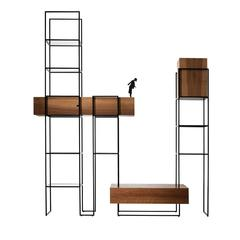 Babel Walnut and Iron Bookshelf