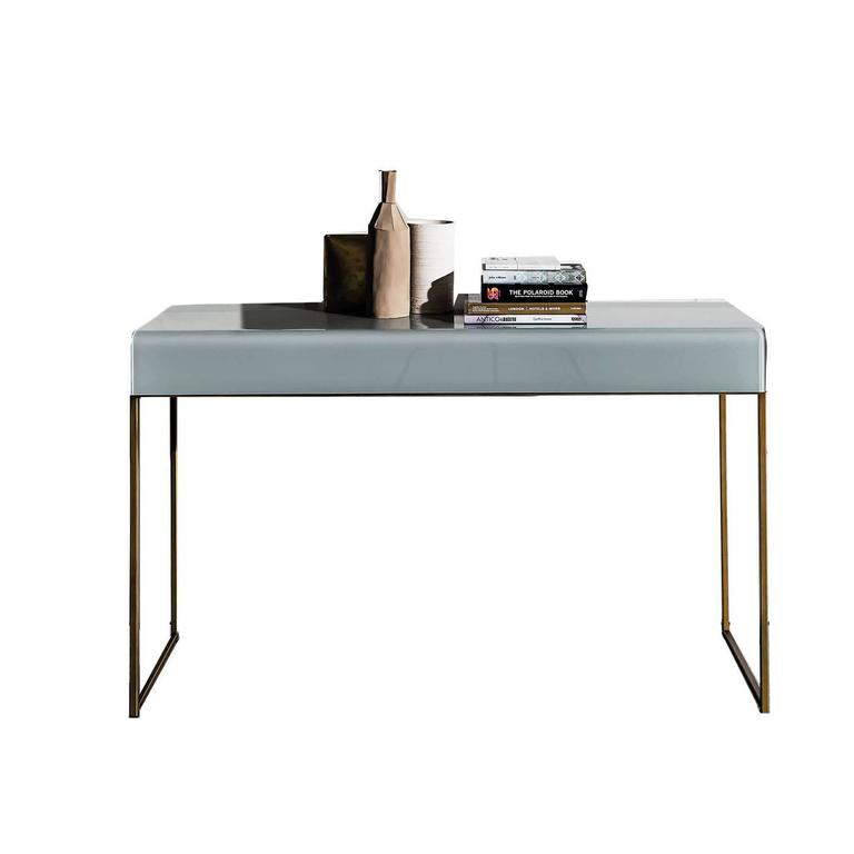 Metal and glass console for sale at 1stdibs for Metal console tables glass top