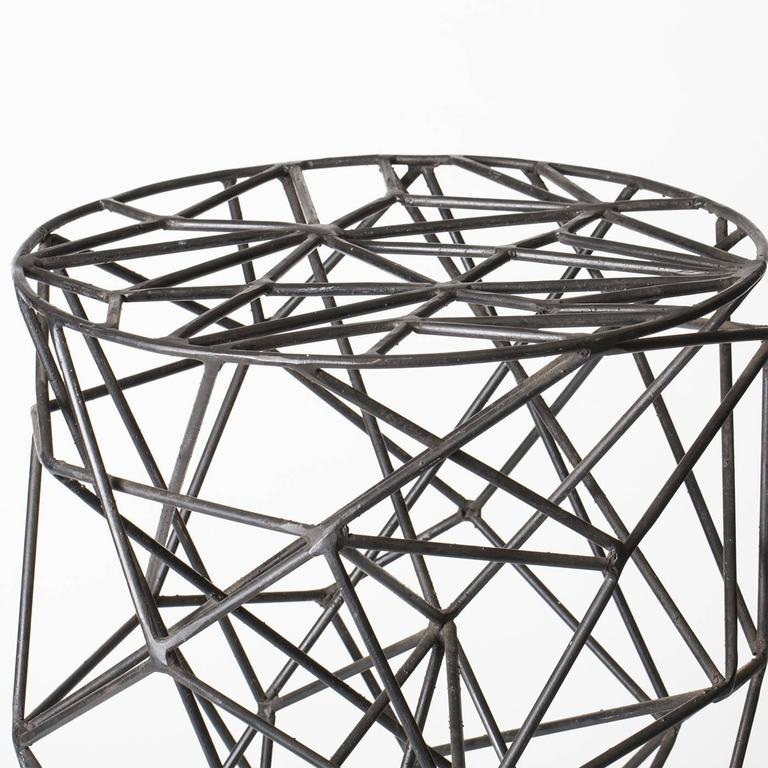 Brillo Iron Stool In Excellent Condition For Sale In Milan, IT