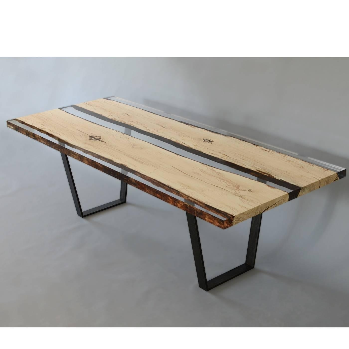Wood Dining Table For Sale: Wood And Resin Table For Sale At 1stdibs